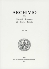 Archivio della Società Romana di Storia Patria vol. 141 - 2018
